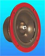 CDT Audio HD-4 R High Definition 4 Midrange Speakers 4 Ohm 50 RMS RED FRAME